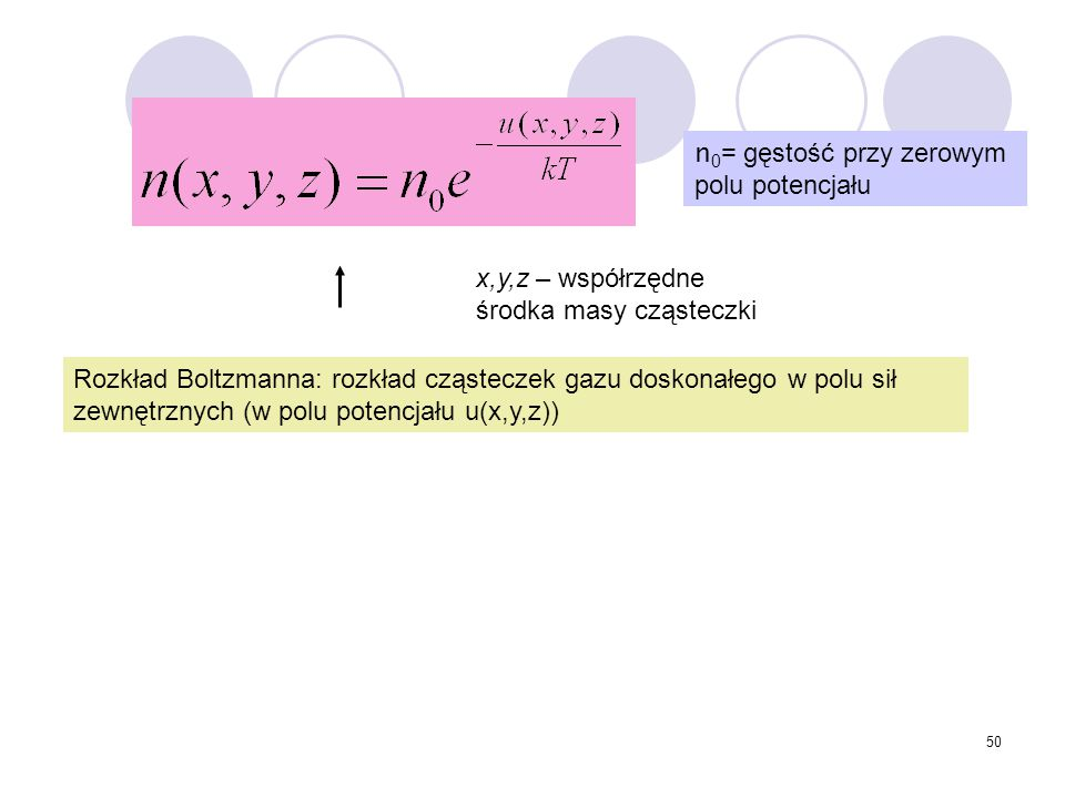 n0= gęstość przy zerowym polu potencjału