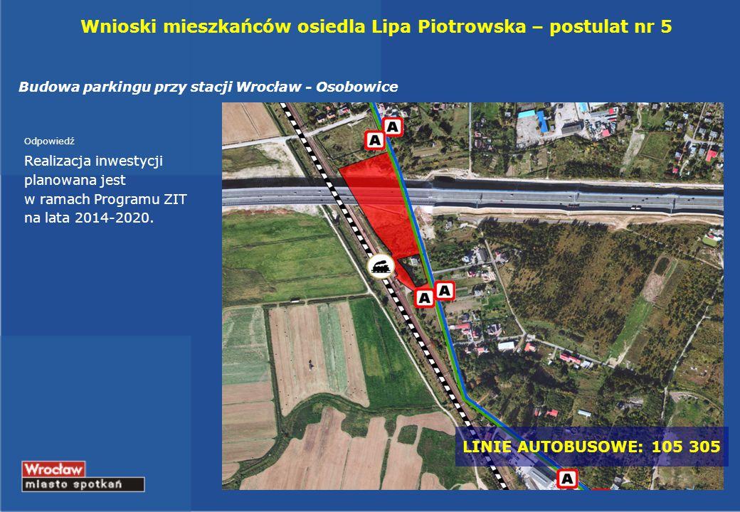 Wnioski mieszkańców osiedla Lipa Piotrowska – postulat nr 5