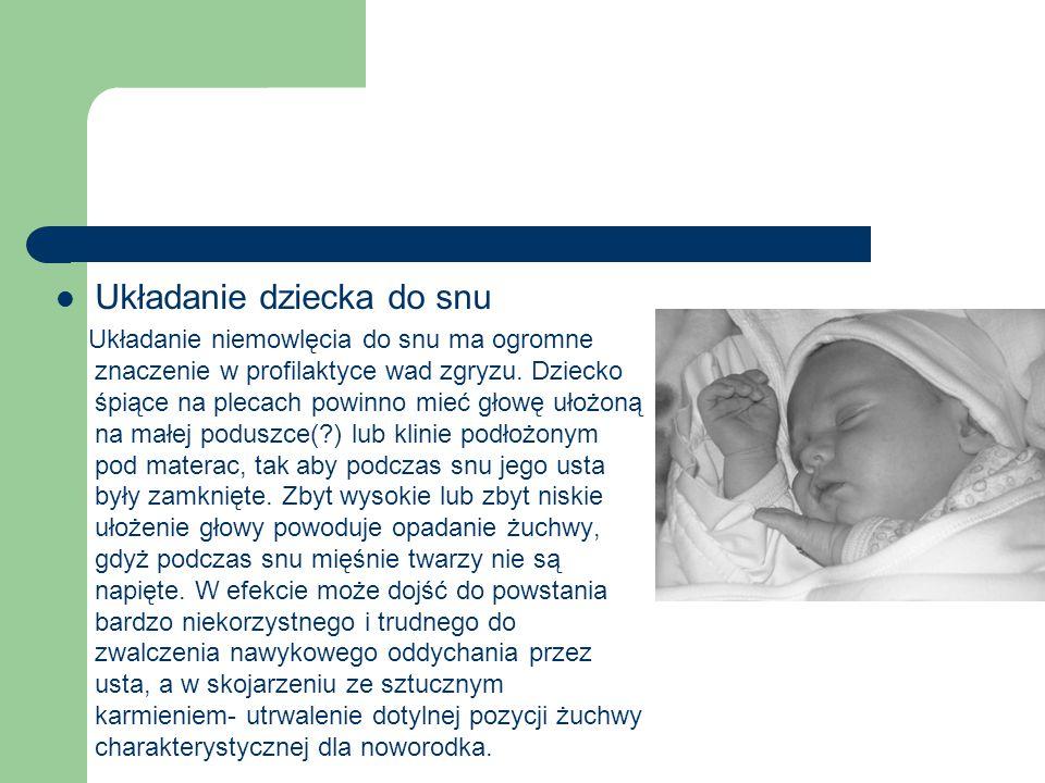 Układanie dziecka do snu