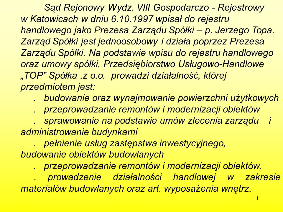 Sąd Rejonowy Wydz. VIII Gospodarczo - Rejestrowy w Katowicach w dniu 6