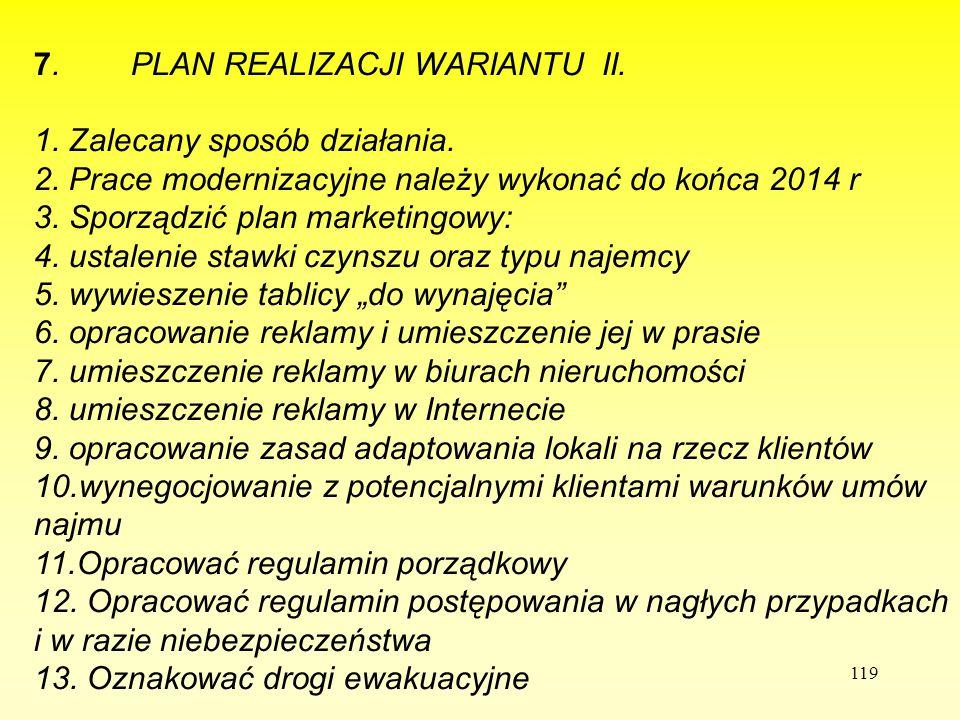 77. PLAN REALIZACJI WARIANTU II.