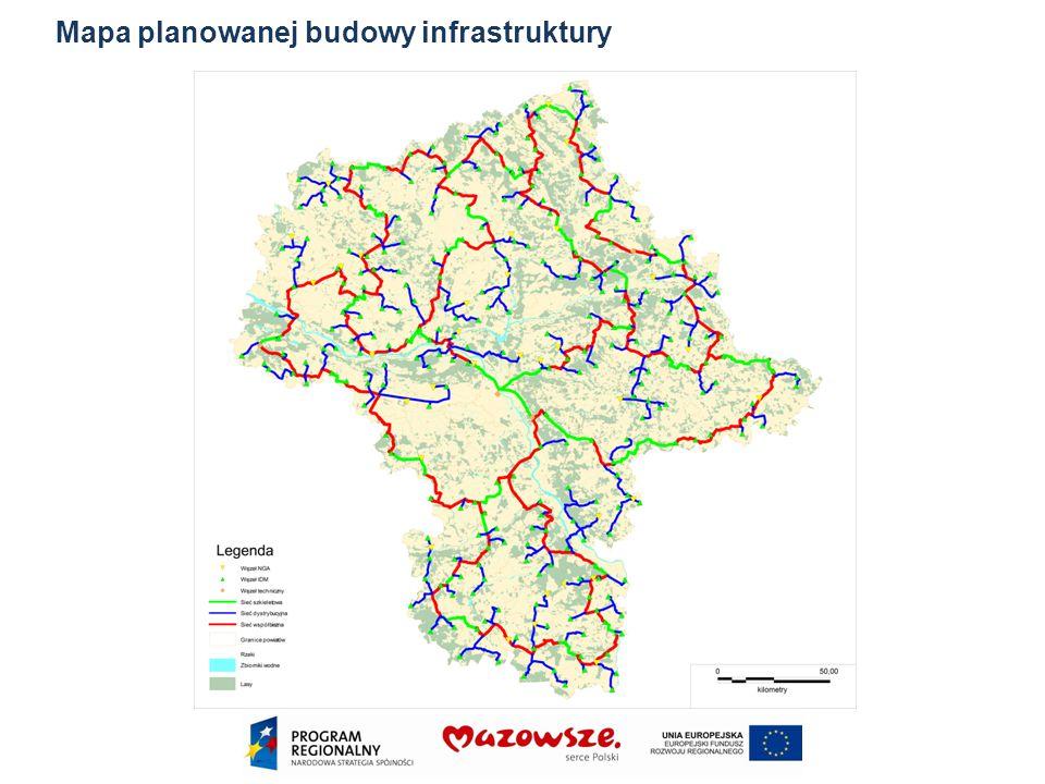 Mapa planowanej budowy infrastruktury