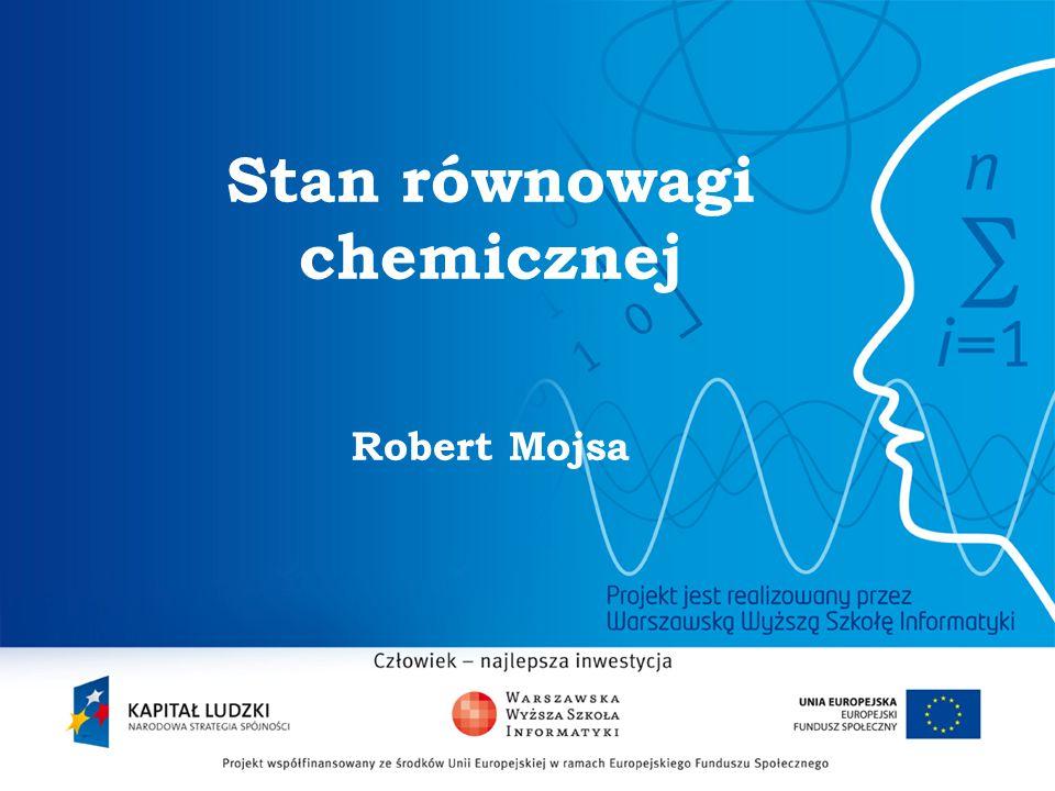 Stan równowagi chemicznej Robert Mojsa
