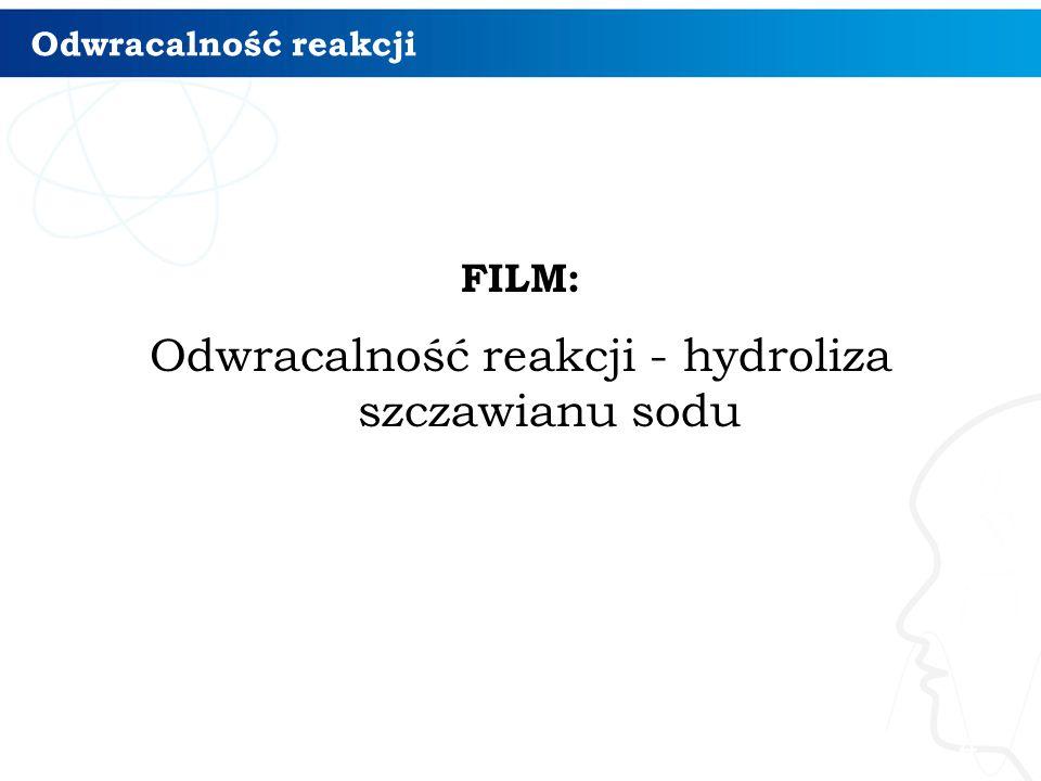 Odwracalność reakcji - hydroliza szczawianu sodu