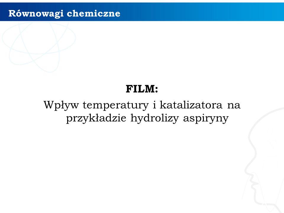 Równowagi chemiczne FILM: Wpływ temperatury i katalizatora na przykładzie hydrolizy aspiryny