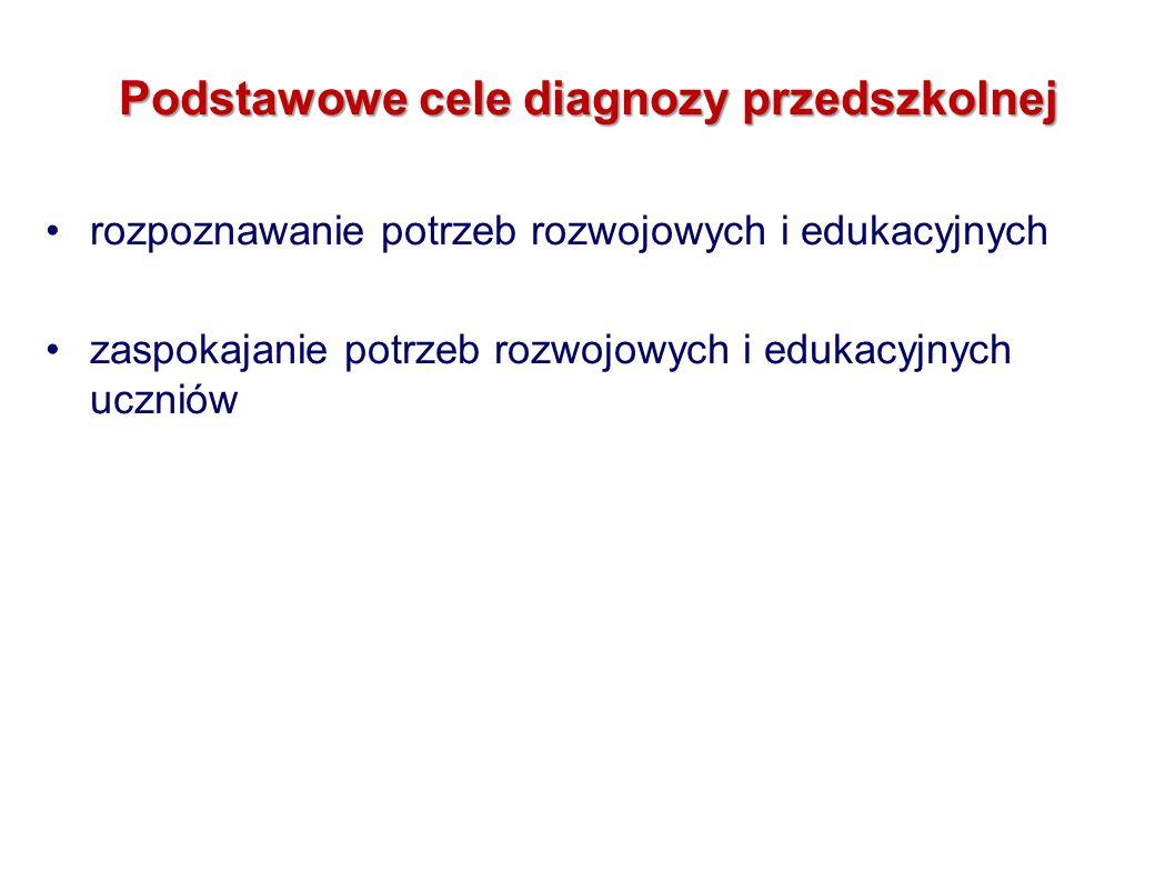Podstawowe cele diagnozy przedszkolnej