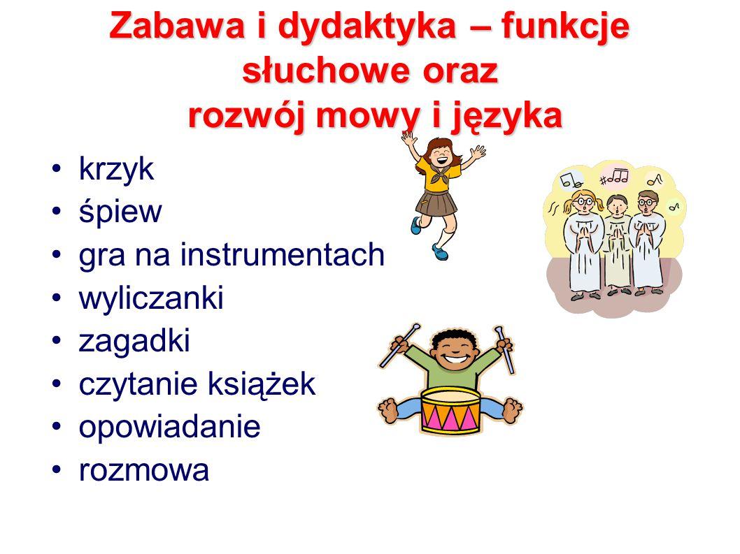 Zabawa i dydaktyka – funkcje słuchowe oraz rozwój mowy i języka