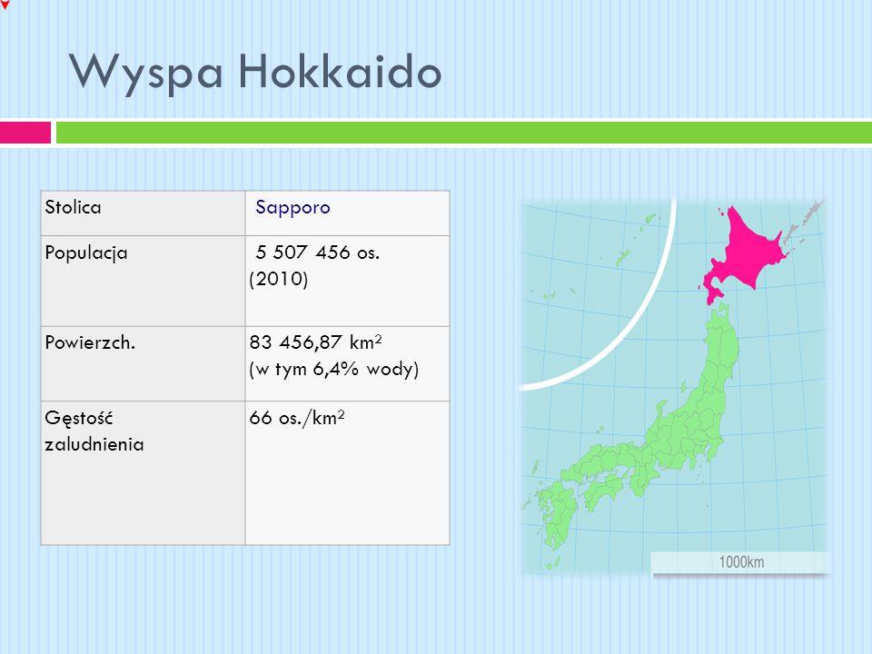 Wyspa Hokkaido Stolica Sapporo Populacja 5 507 456 os. (2010)