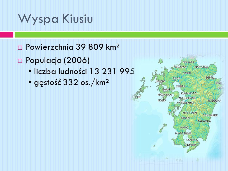Wyspa Kiusiu Powierzchnia 39 809 km²