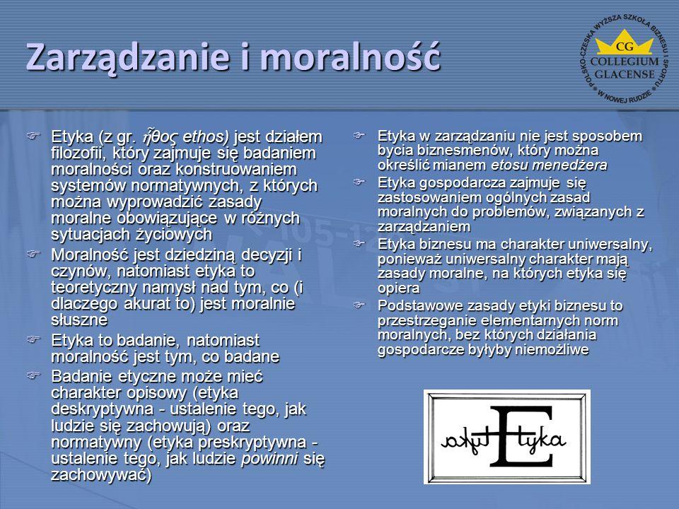 Zarządzanie i moralność