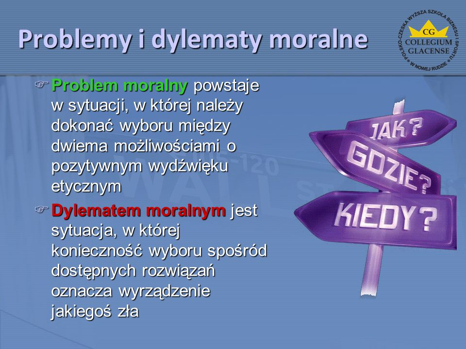 Problemy i dylematy moralne