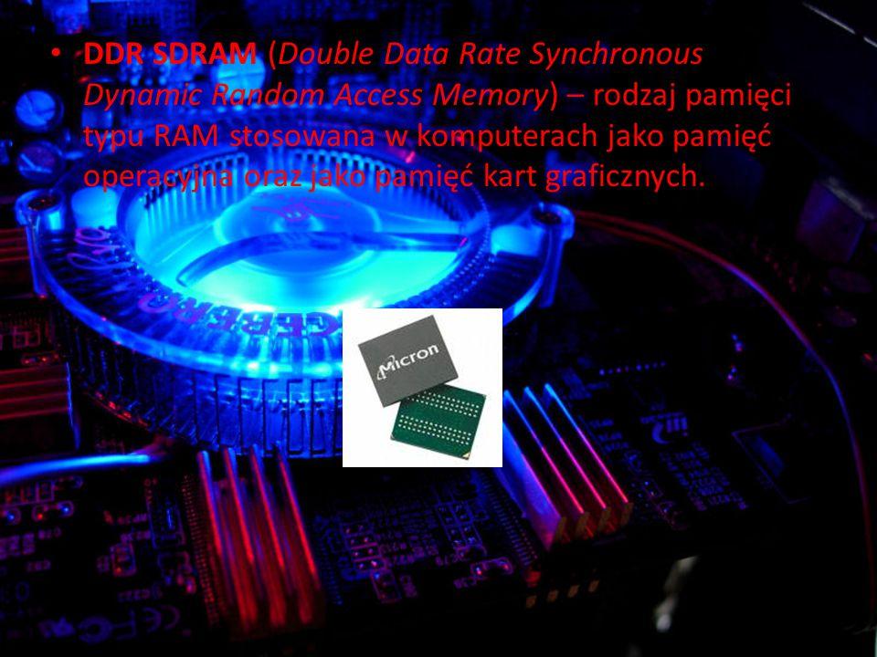 DDR SDRAM (Double Data Rate Synchronous Dynamic Random Access Memory) – rodzaj pamięci typu RAM stosowana w komputerach jako pamięć operacyjna oraz jako pamięć kart graficznych.