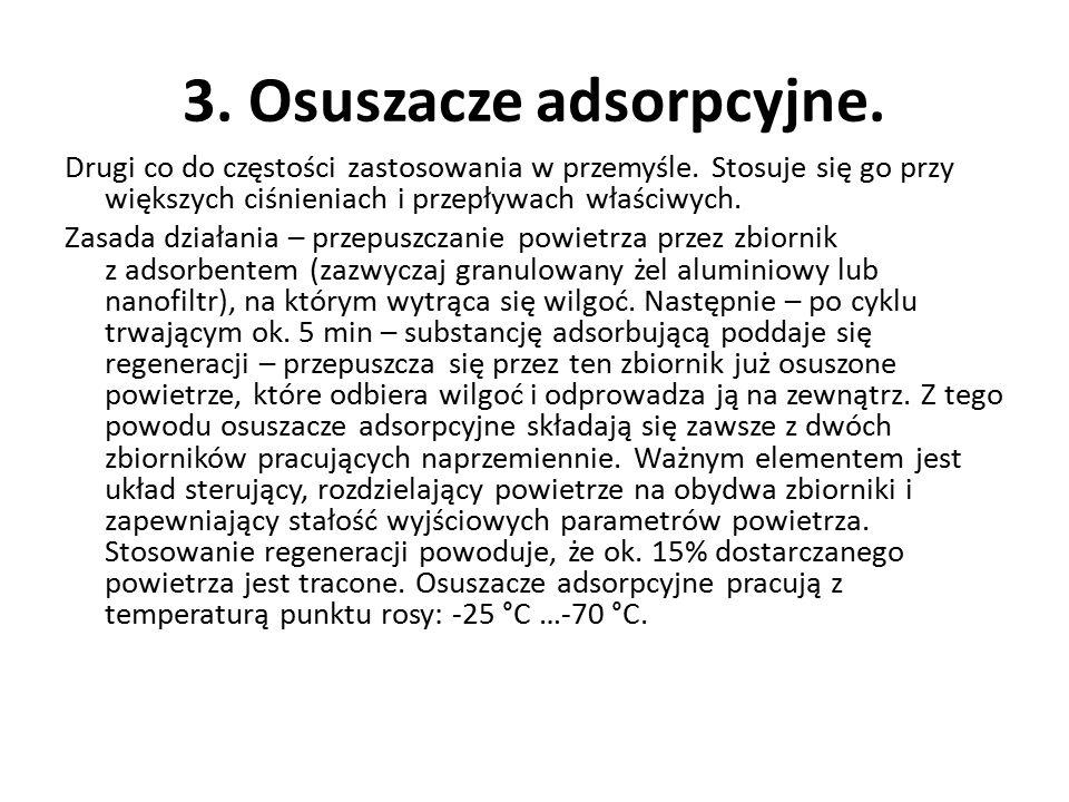 3. Osuszacze adsorpcyjne.