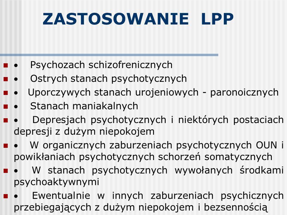 ZASTOSOWANIE LPP · Psychozach schizofrenicznych