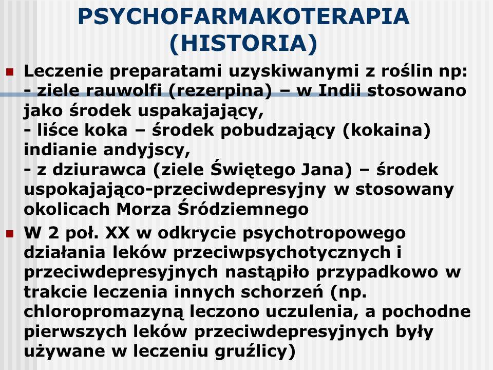 PSYCHOFARMAKOTERAPIA (HISTORIA)
