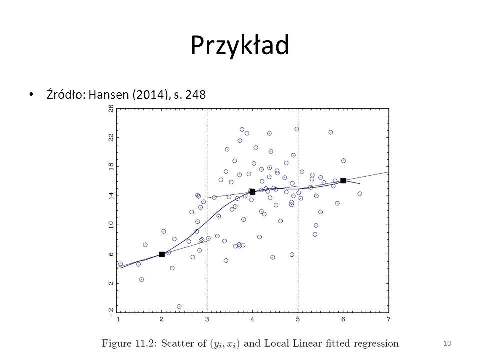 Przykład Źródło: Hansen (2014), s. 248