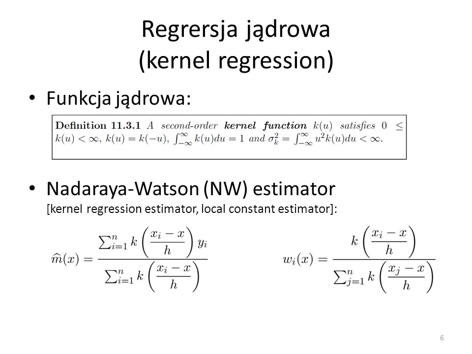 Regrersja jądrowa (kernel regression)
