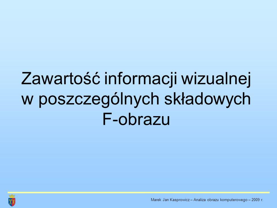 Zawartość informacji wizualnej w poszczególnych składowych