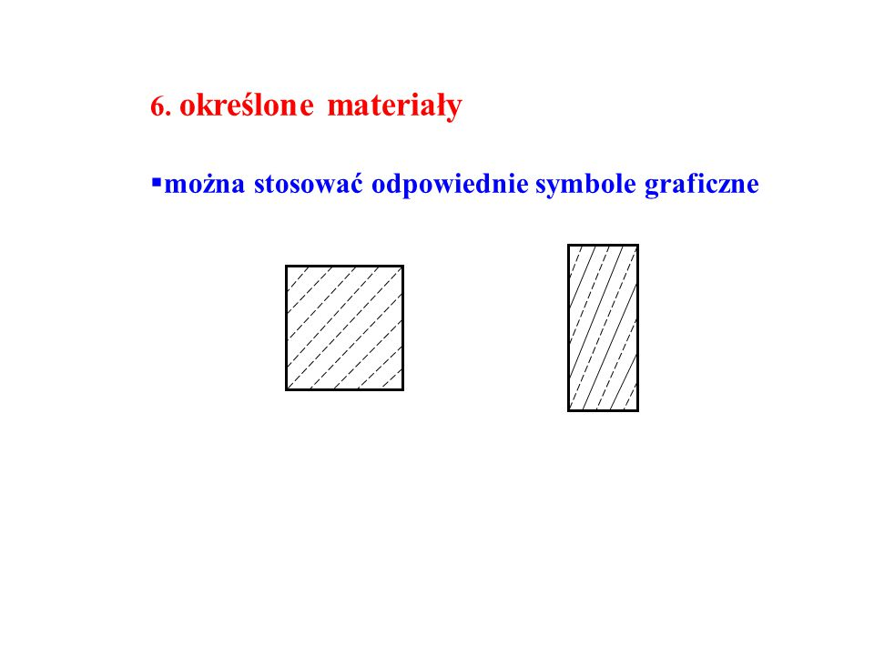 6. określone materiały można stosować odpowiednie symbole graficzne