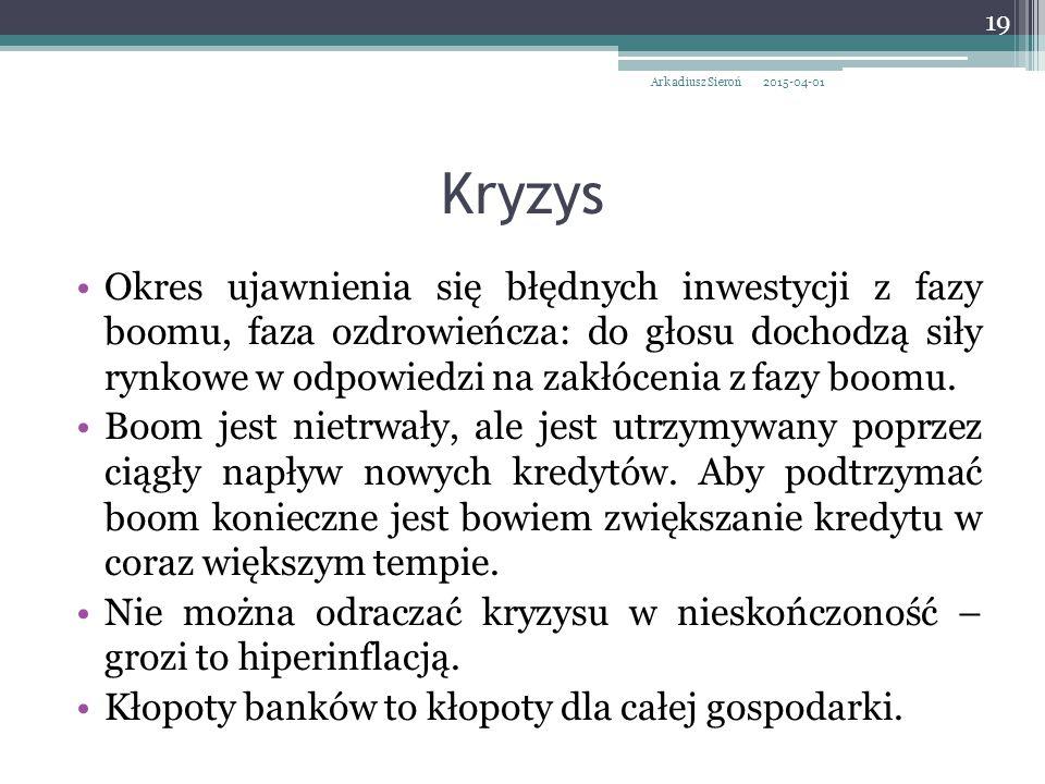 Arkadiusz Sieroń 2017-04-09. Kryzys.
