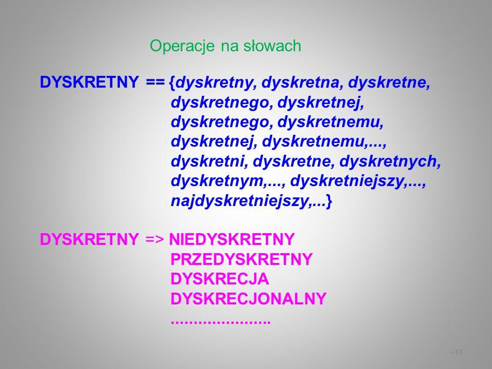 Operacje na słowach