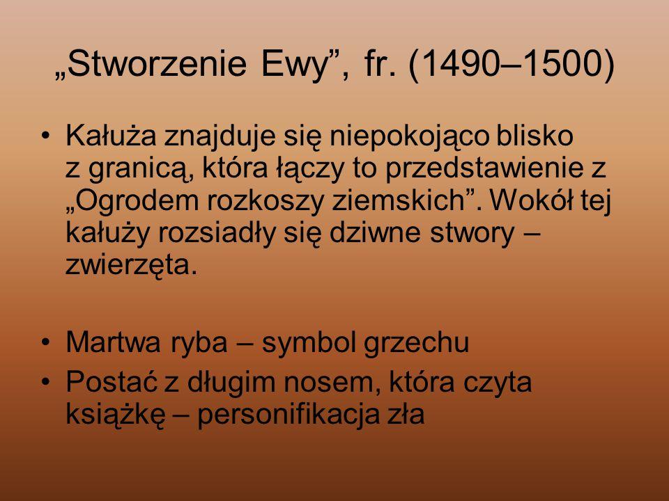 """""""Stworzenie Ewy , fr. (1490–1500)"""