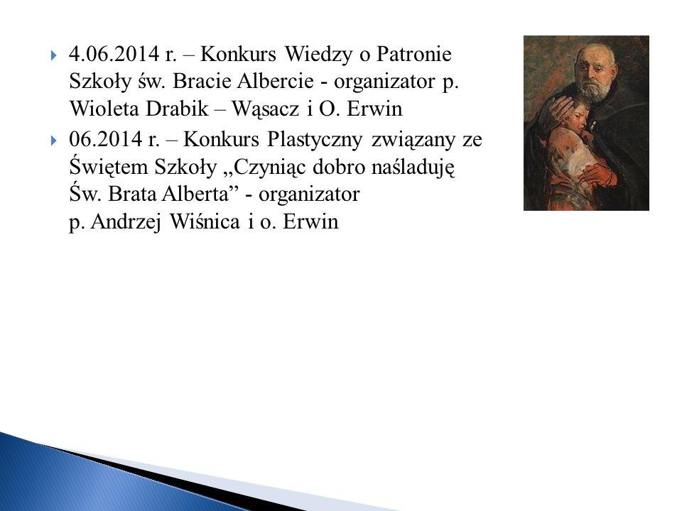 4. 06. 2014 r. – Konkurs Wiedzy o Patronie Szkoły św