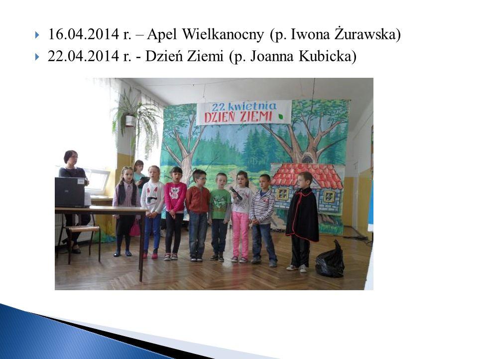 16.04.2014 r. – Apel Wielkanocny (p. Iwona Żurawska)