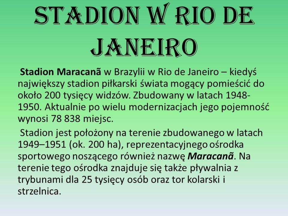 Stadion w Rio De Janeiro