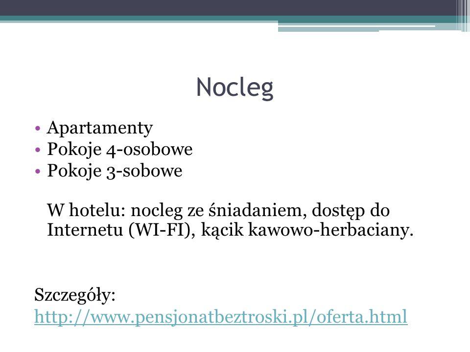 Nocleg Apartamenty Pokoje 4-osobowe