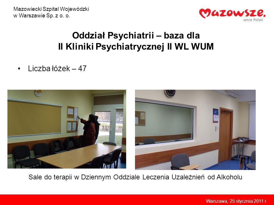 Oddział Psychiatrii – baza dla II Kliniki Psychiatrycznej II WL WUM