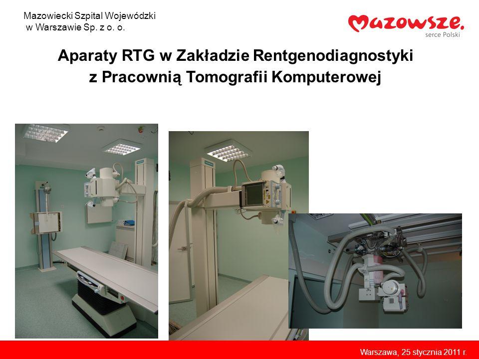 Aparaty RTG w Zakładzie Rentgenodiagnostyki