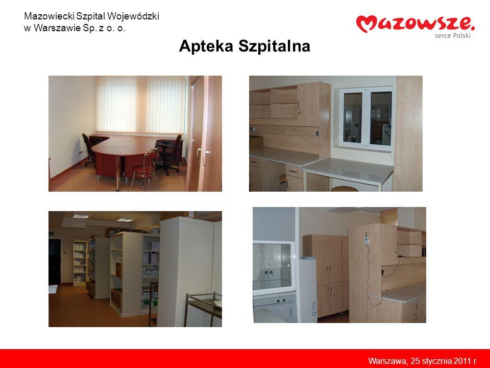 Apteka Szpitalna Mazowiecki Szpital Wojewódzki w Warszawie Sp. z o. o.