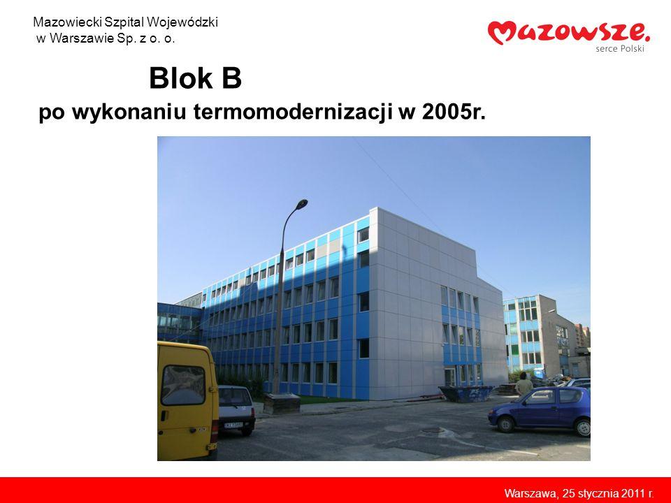 Blok B po wykonaniu termomodernizacji w 2005r.