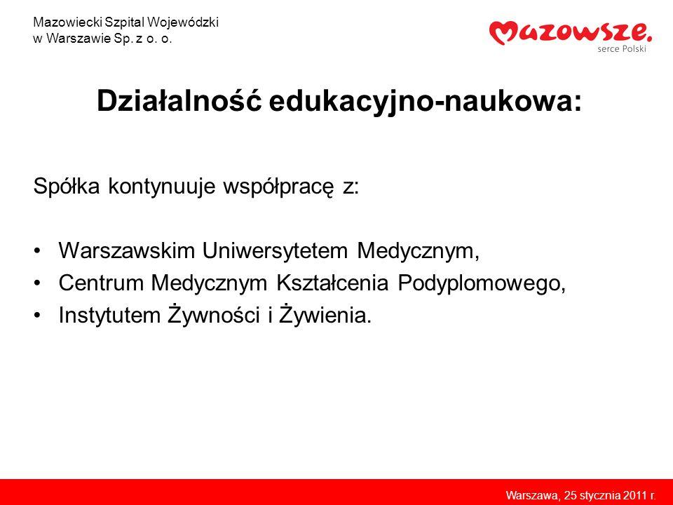 Działalność edukacyjno-naukowa: