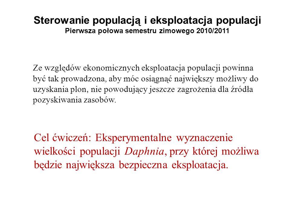 Sterowanie populacją i eksploatacja populacji