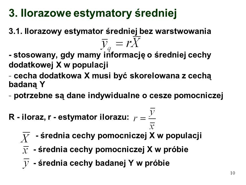 3. Ilorazowe estymatory średniej