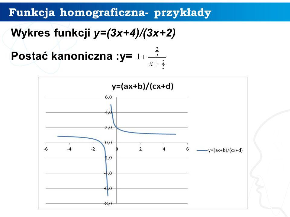 Funkcja homograficzna- przykłady