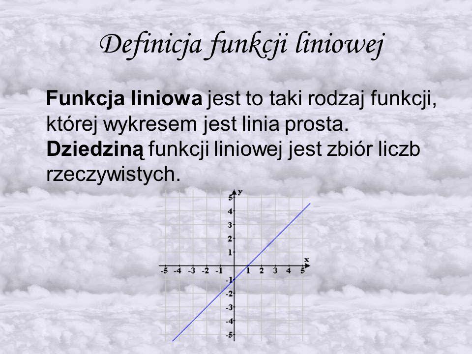 Definicja funkcji liniowej