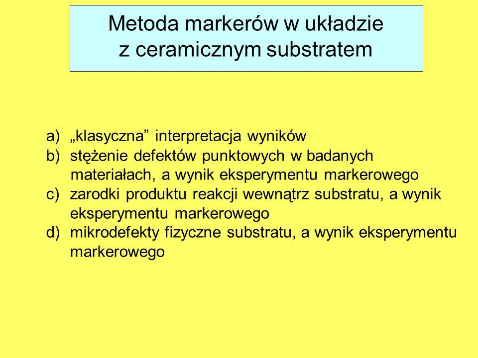 Metoda markerów w układzie z ceramicznym substratem