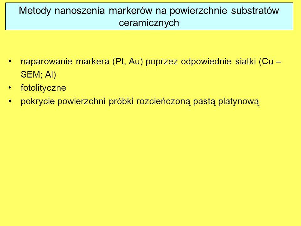 Metody nanoszenia markerów na powierzchnie substratów ceramicznych
