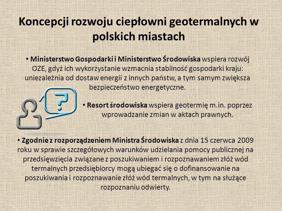 Koncepcji rozwoju ciepłowni geotermalnych w polskich miastach