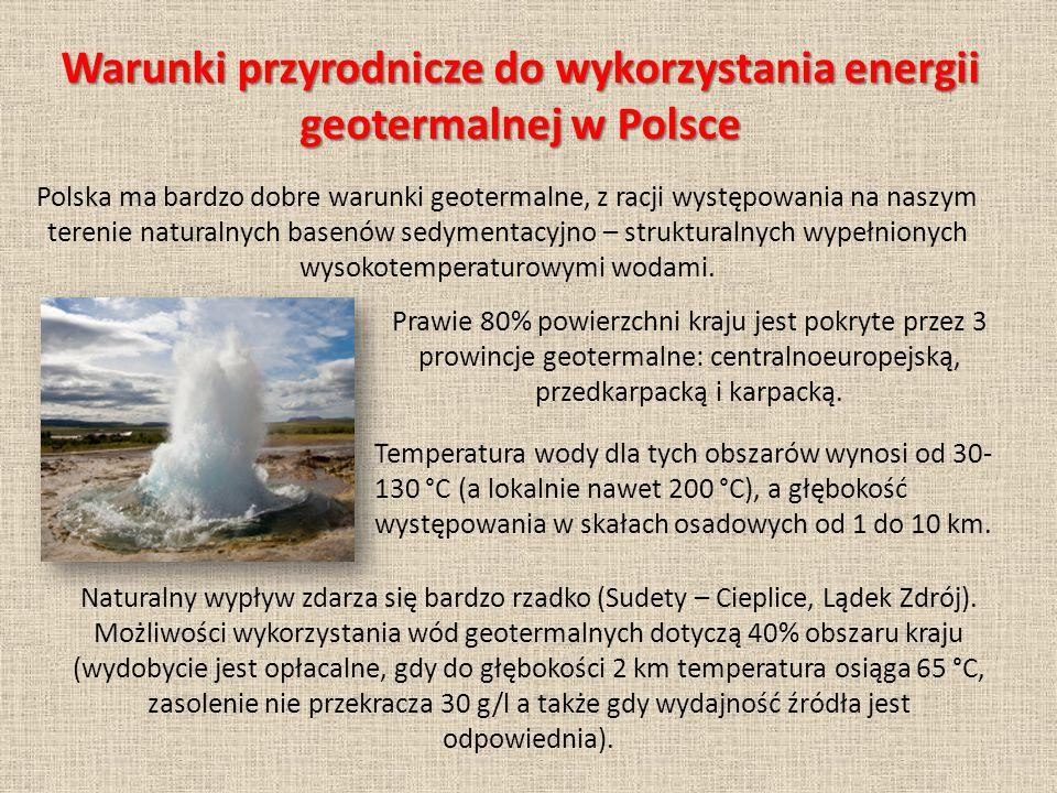 Warunki przyrodnicze do wykorzystania energii geotermalnej w Polsce