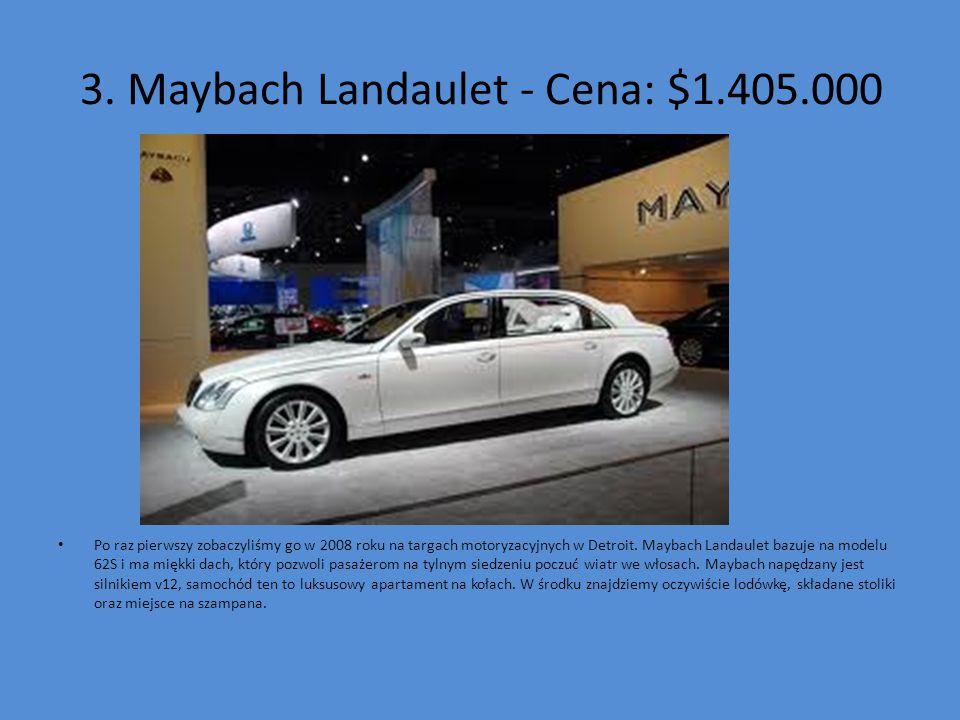 3. Maybach Landaulet - Cena: $1.405.000