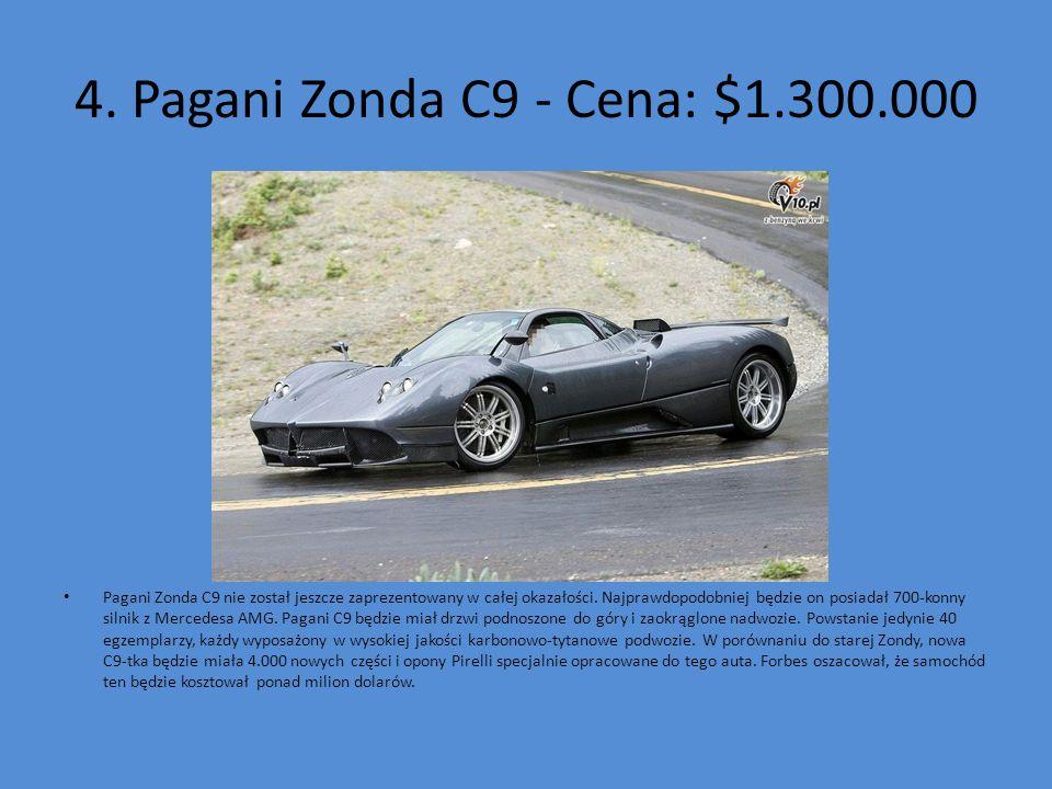 4. Pagani Zonda C9 - Cena: $1.300.000
