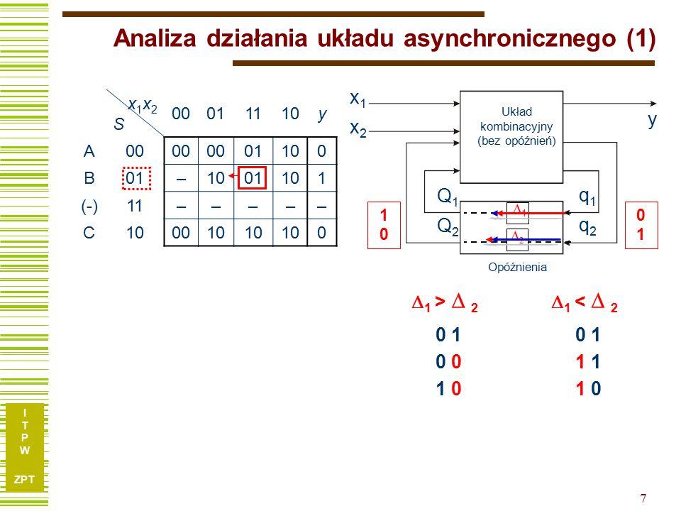 Analiza działania układu asynchronicznego (1)