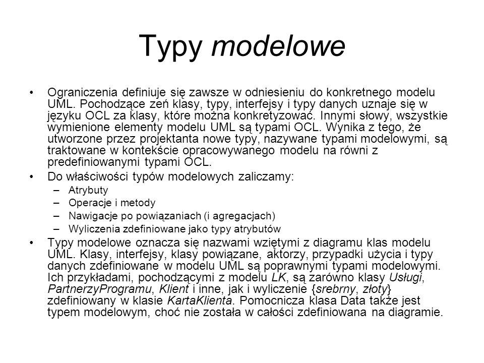 Typy modelowe
