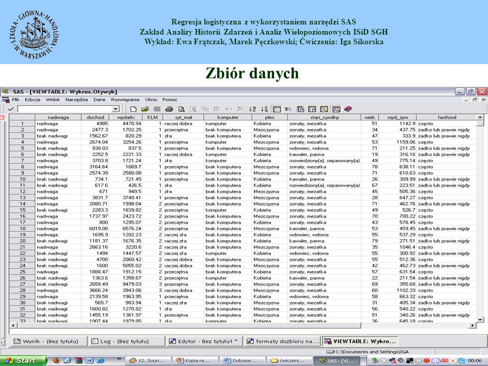Zbiór danych