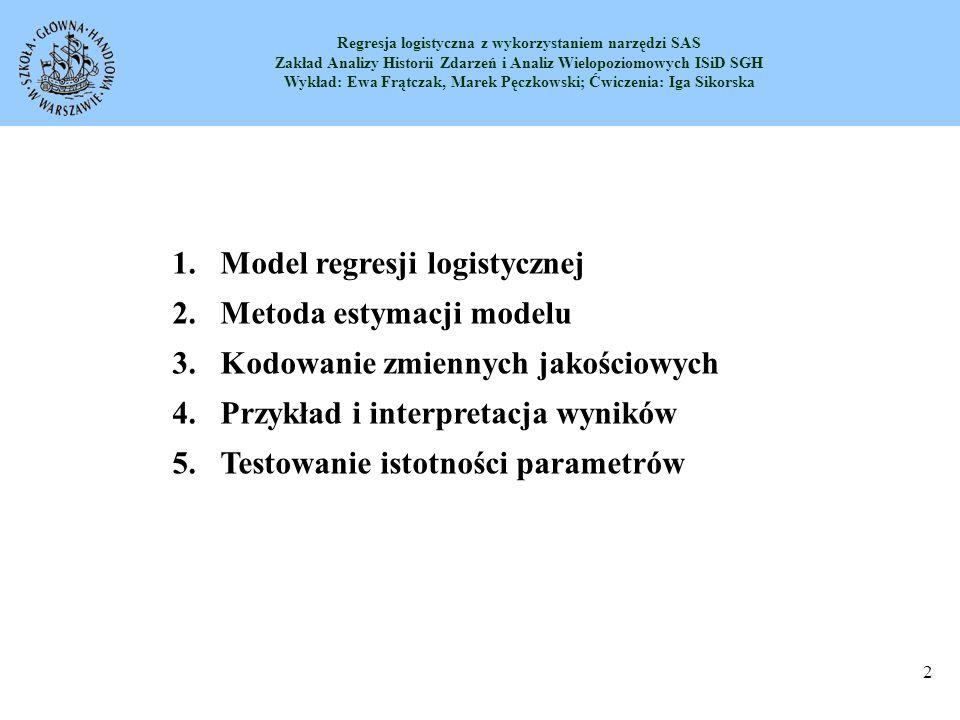 Model regresji logistycznej