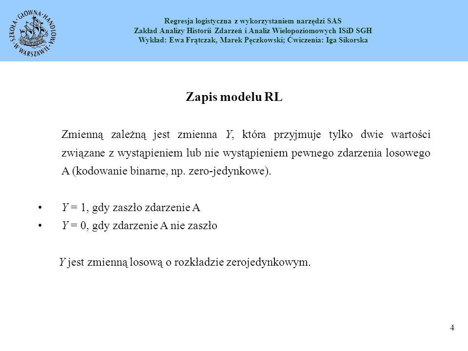 Zapis modelu RL